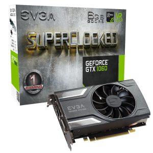 Nvidia EVGA GTX 1060 Gaming SC 6GB